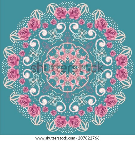 Vector illustration of mandala design.