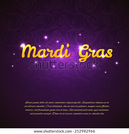 Vector illustration of Mardi Gras beauty background - stock vector