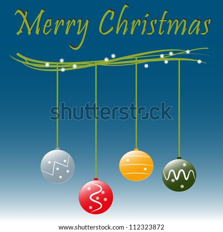 Vector illustration of Marry Christmas balls - stock vector