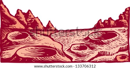 Vector Illustration Mars Landscape Stock Vector 133706312 ...