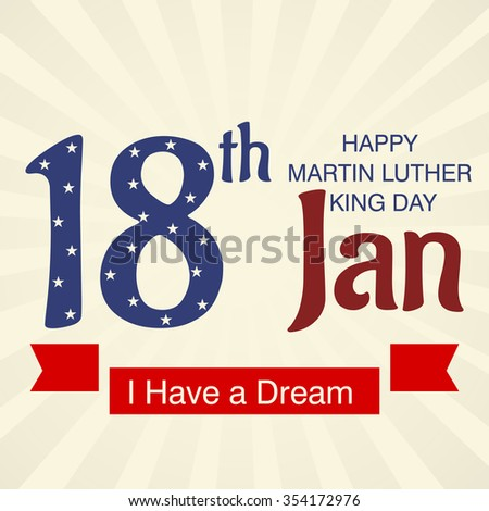 Vector illustration of Martin Luther King Day background.
