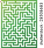 Vector illustration of maze - stock photo