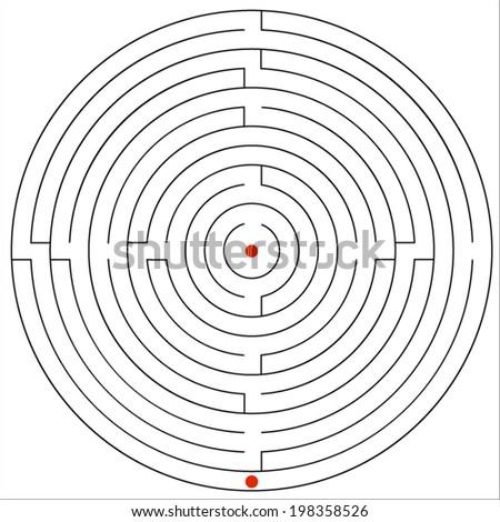 Vector illustration of maze. - stock vector