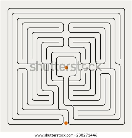 Vector illustration of maze. - stock vector