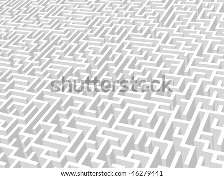 Vector illustration of maze.
