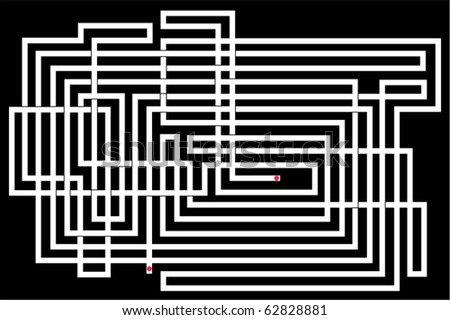 Vector illustration of maze - stock vector