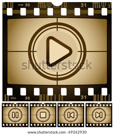vector illustration of Media buttons - stock vector