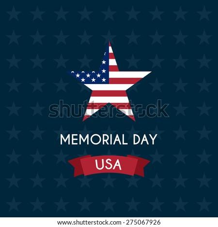 Vector illustration of memorial day. - stock vector