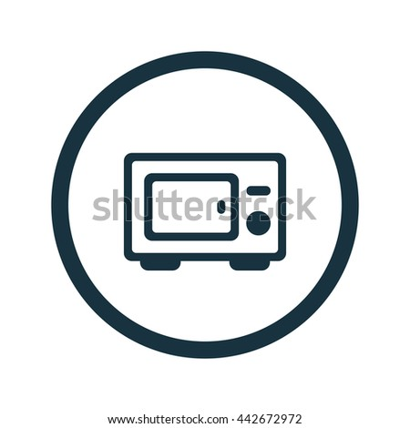 Vector illustration of microwave icon