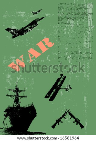 Vector Illustration of Military Background - stock vector