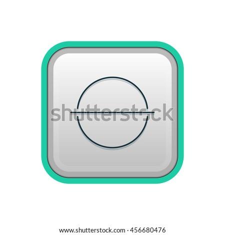 Vector illustration of minus icon - stock vector