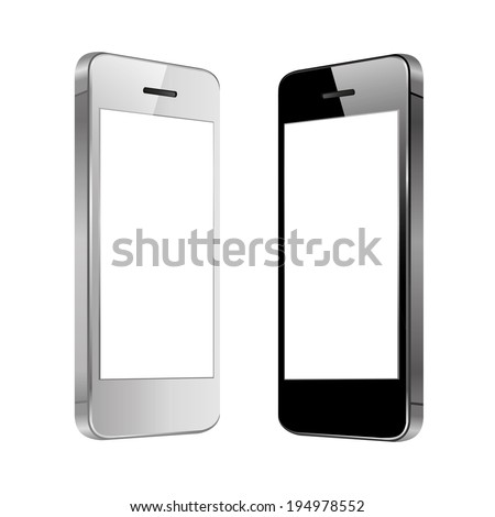 vector illustration of modern black and white number in two forms on a white background - stock vector