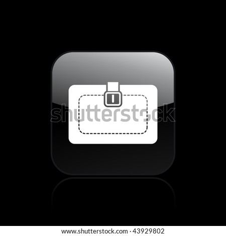 Vector illustration of modern glossy black icon depicting a bag icon