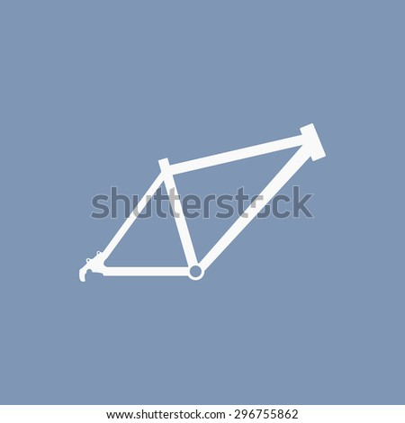 vector illustration of modern icon bicycle frame