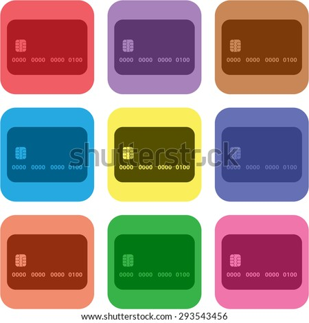 vector illustration of modern icon card