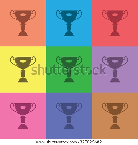 vector illustration of modern icon champion cup