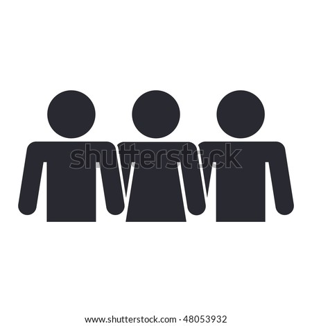 Vector illustration of modern icon depicting a global people union - stock vector