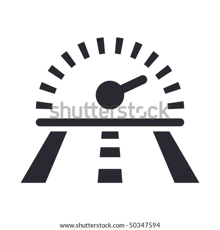 Vector illustration of modern icon depicting a speed on the street - stock vector