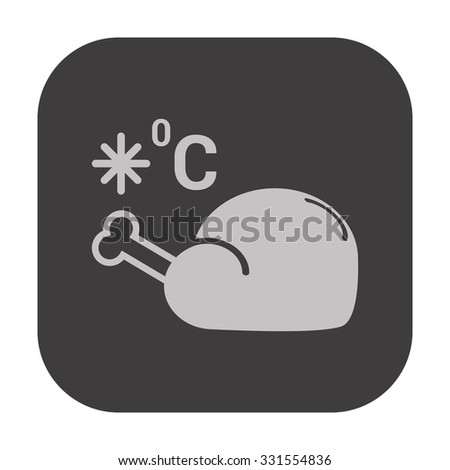 vector illustration of modern icon freezing