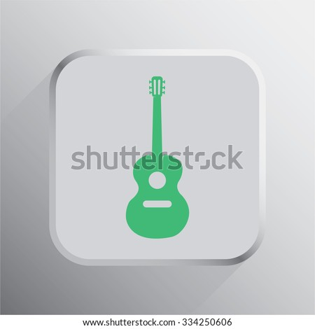 vector illustration of modern icon guitar