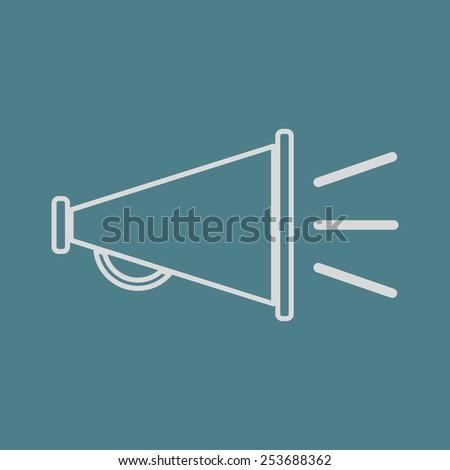 vector illustration of modern   icon horn - stock vector