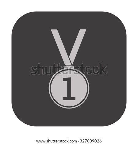vector illustration of modern icon medal