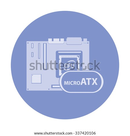 vector illustration of modern icon motherboard