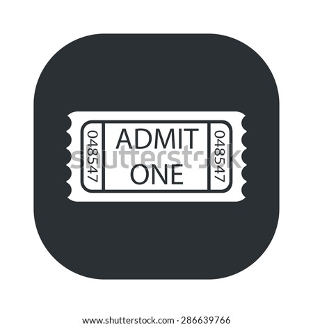 vector illustration of modern icon movie ticket - stock vector