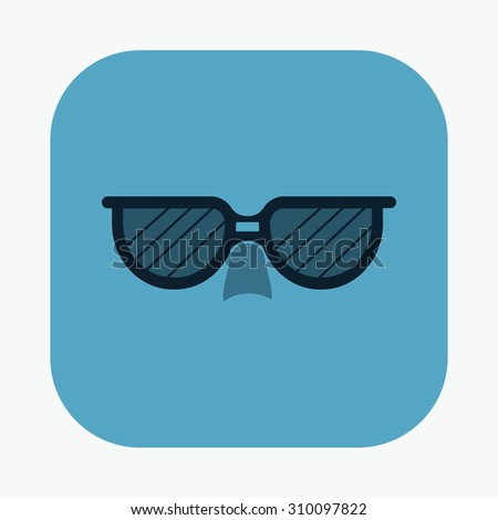 vector illustration of modern icon sunglasses
