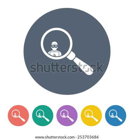 vector illustration of modern icon thief - stock vector