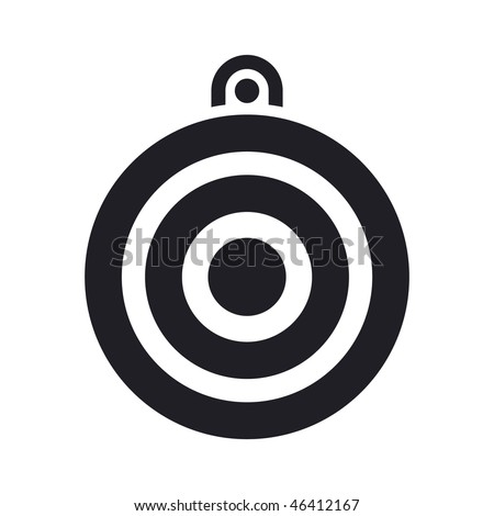 Vector illustration of modern single icon depicting a target