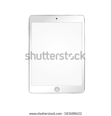 vector illustration of modern white plate on a white background - stock vector