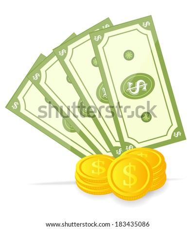 Vector illustration of money - stock vector
