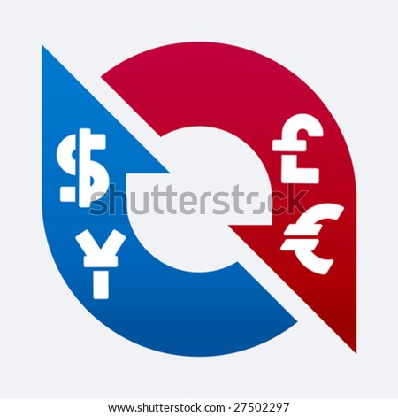 Vector illustration of money change variations. Only global colors. CMYK. Easy color changes. - stock vector
