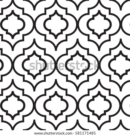 Vector Illustration Of Moroccan Trellis Seamless Pattern