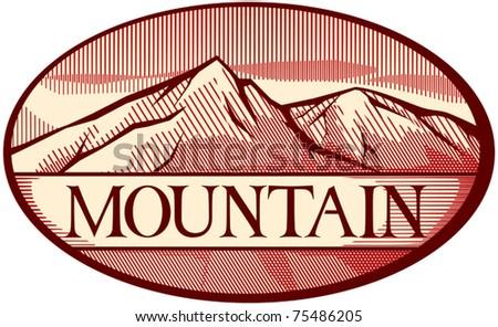 vector illustration of mountain landscape - stock vector
