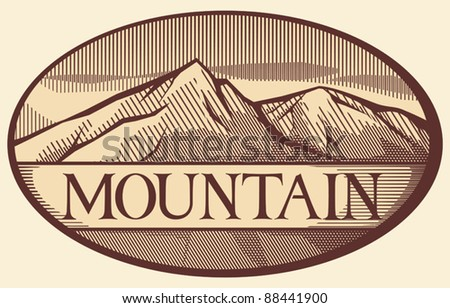 vector illustration of mountain landscape - stock vector