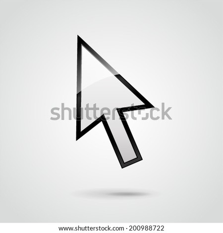Vector illustration of mouse pointer background concept - stock vector