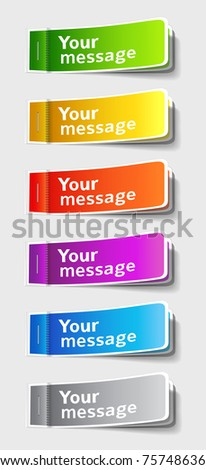 Vector illustration of multicolored stickers - stock vector