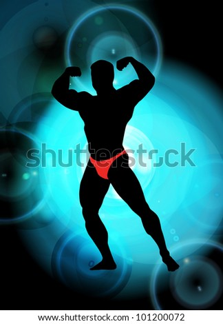 Vector illustration of muscle man