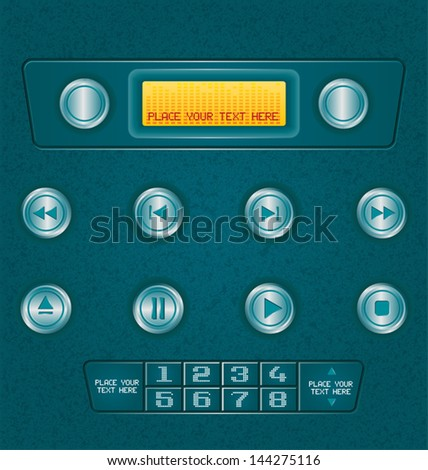 vector illustration of  music button