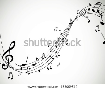 Vector Illustration of Music Notes - stock vector