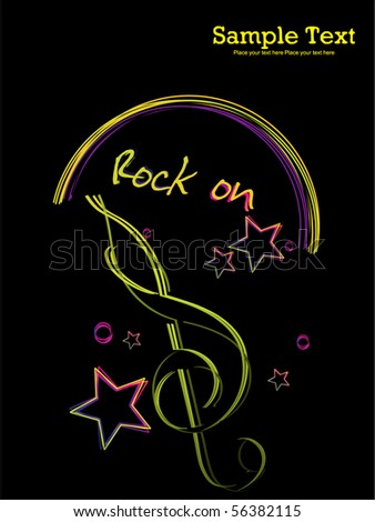 vector illustration of musical background - stock vector