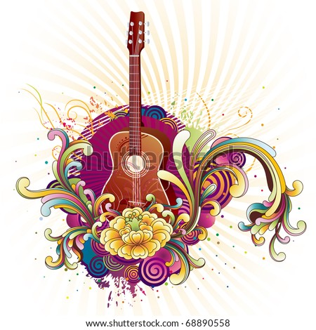 vector illustration of musical theme - stock vector