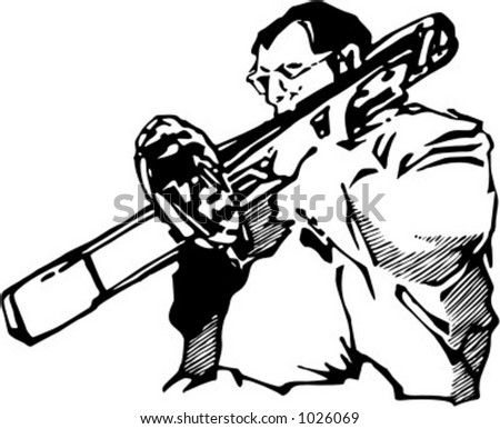 Vector illustration of musician. - stock vector