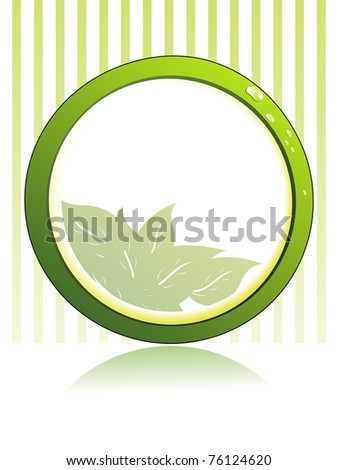 vector illustration of nature concept frame - stock vector