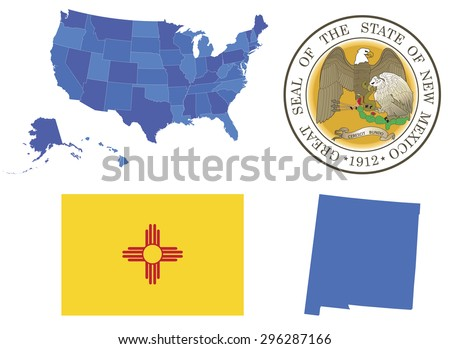 New Mexico State Map Stock Images RoyaltyFree Images Vectors