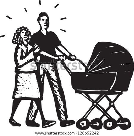 Vector illustration of new parents