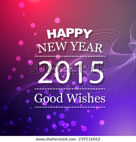 vector illustration of new year design with pink blue colorful background