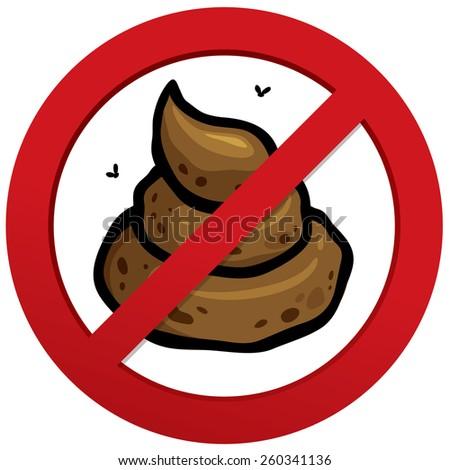 Vector illustration of No poop sign - stock vector